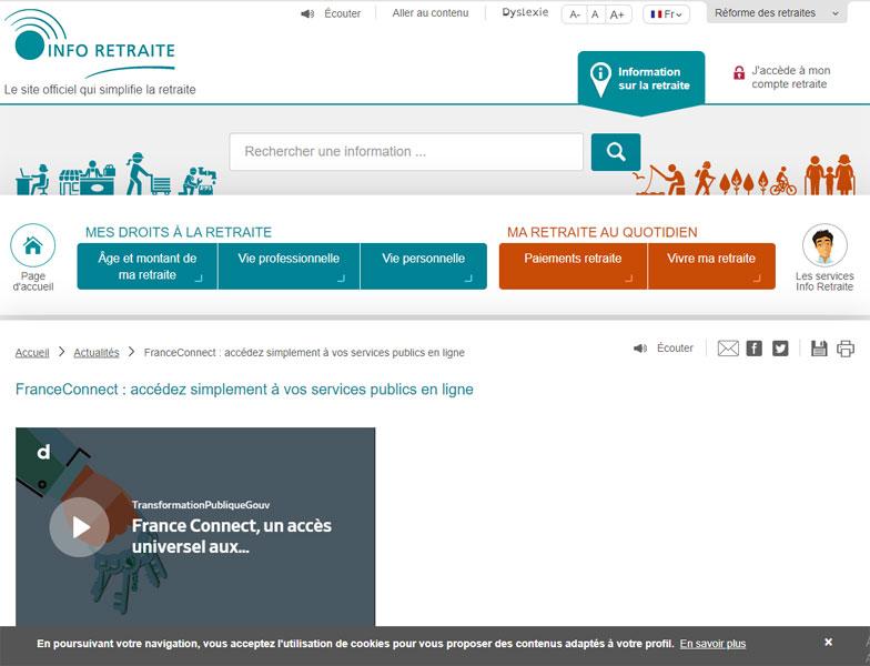 France Connect retraite : fonctionnalités, accès et utilisation
